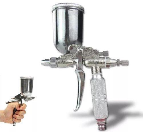 Pistola Hvlp Mini Retoque C/leque Tipo Aerógrafo 0,5mm 100ml