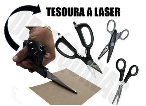 Kit De Tesouras Multiuso Com Laser 4 Pecas Titanium