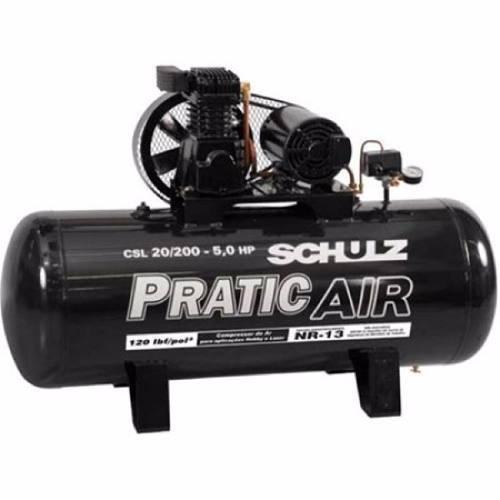 Compressor De Ar Pratic Air Csl 20/200 220/380v Trifásico