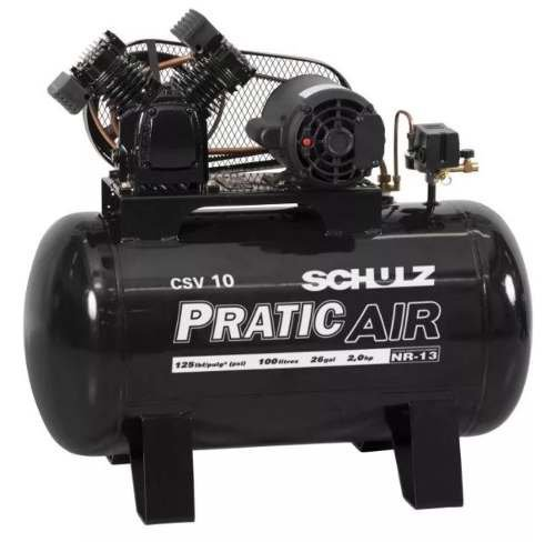 Compressor Csv10/100l 125psi Bivolt Mono Pratic Air Schulz