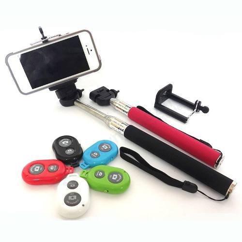 Controle Bluetooth Shutter + Monopod + Adap. Celular Gopro
