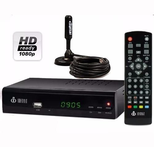 Kit Conversor Tv Digital Full Hd Hdmi Itv300 + Antena Tv Uhf