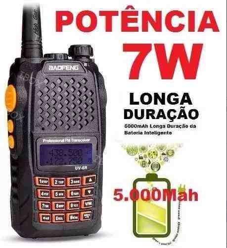 Radio Ht Walk Talk Uhf Vhf Dual Band Fm Baofeng Uv-6r 7w Nf