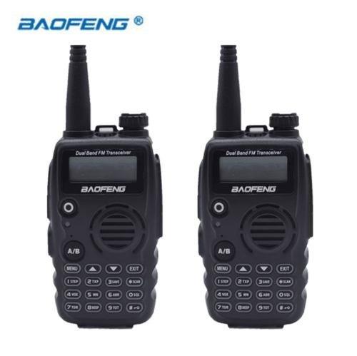 Kit 2 Rádio Comunicador Baofeng Dual Band + Fone Uva52