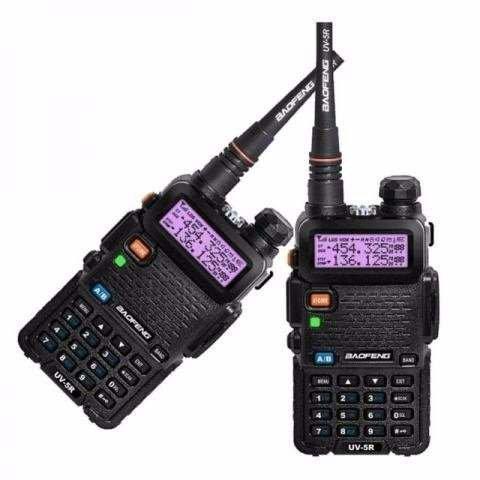 Kit 2 Rádio Comunicador Walkie Talkie Baofeng Fone Uv-5r Nf