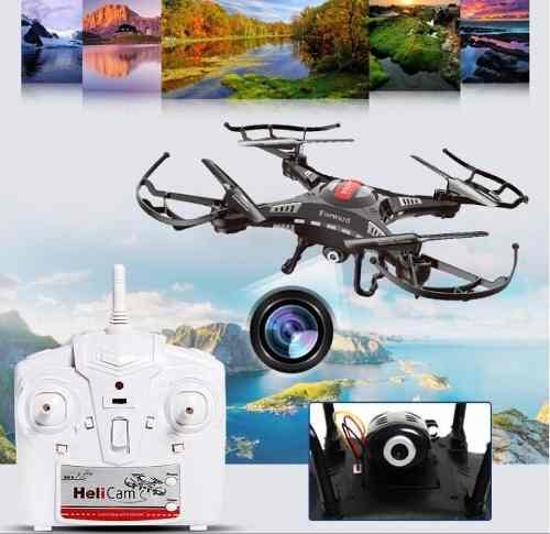 Drone Com Camera Hd Led Quadricoptero 2g Rq77-05 +2 Bateria