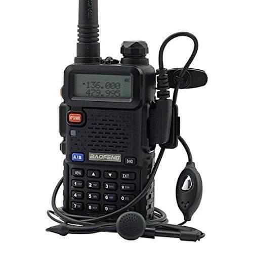 Radio Comunicador Dual Band Fone Uv5r + 1 Antena 771 + 1 Ptt