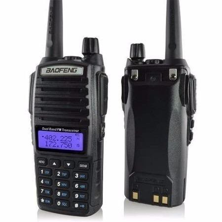 Rádio Ht Comunicador Baofeng Dual Band Uv-82 + Mini  Ptt 82