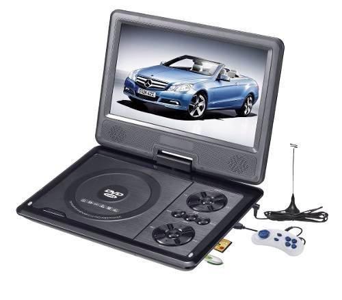 Dvd Portatil 7 Pol Tela Lcd Multimedia Cd Sd Usb Fm Jogos