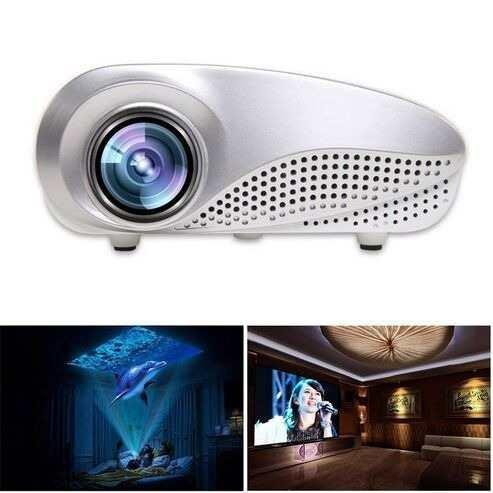Mini Projetor Data Show Portatil Led 100pol Filmes Tv H802tv