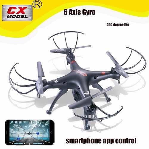 Drone Camera Wifi Ao Vivo Celular 2 Mp Quadricoptero Cx22w