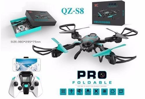 Drone Com Camera Ao Vivo Celular 2,0 Mp Wifi Fpv Controle S8