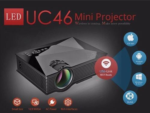 Mini Projetor Led Profissional 1200 Lumen Wifi Uc46 + Tripe
