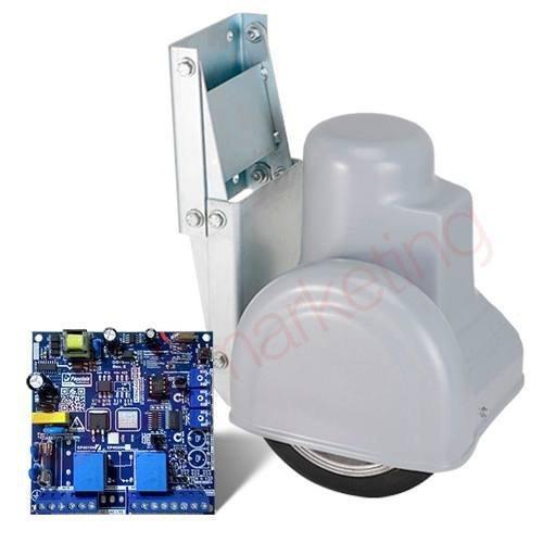 Kit Motor Portão Eletrônico Pivotante Robô Com Pneu Peccinin