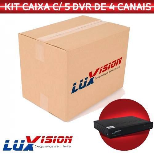 Dvr 4 Canais Ahd Ecd 5x1 1080p Luxvision Cx C/ 5 Unidades