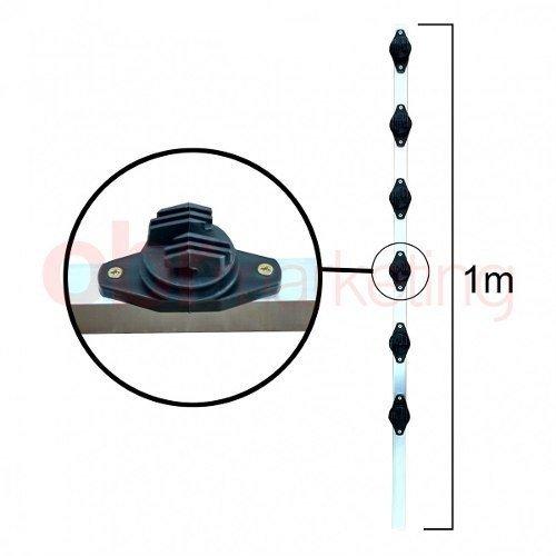 Haste Industrial 25x25 100cm 6 Isoladores Tipo W