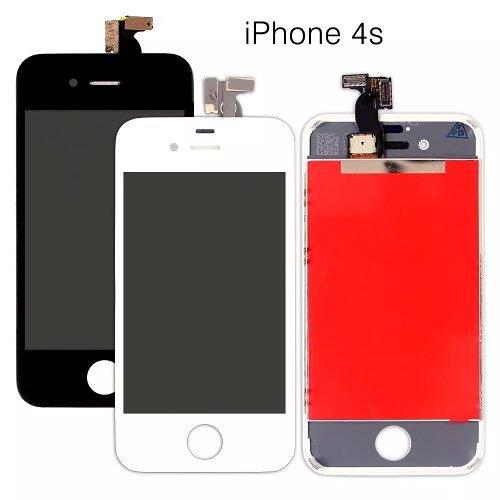 Visor Tela Touch Display Lcd Iphone 4 E 4s Preto E Branco