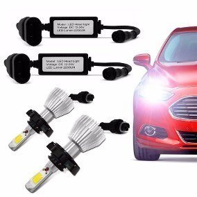 Kit Xenon Super Led Carro H1 H3 H4 H7 H8 H11 Hb3 Hb4 -6000k