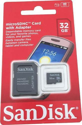 Cartão De Memória Micro Sd 32gb Galaxy Moto G Samsung Lg Ac