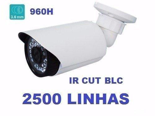 Camera 1/3 3,6mm Ir Cut Blc Infravermelho 2100 Linhas Bullet