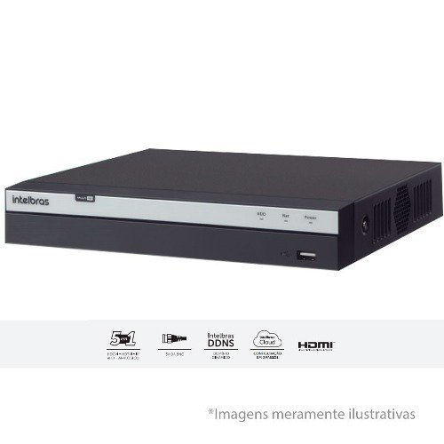 Dvr Intelbras 3008 8 Canais Full Hd 1080p + 4 Ip