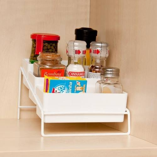 Porta Tempero Luxo Alta Qualidade Para Cozinha Branco