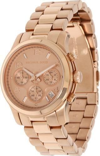 Relógio Michael Kors Mk5128 Ouro Rosé Original Garantia