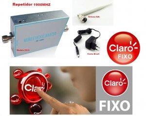 repetidor celular claro fixo livre embratel 1900mhz com antena repetidora interna 60db