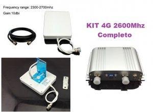 repetidor amplificador 4g celular 2600mhz com antenas para operadoras de todo brasil