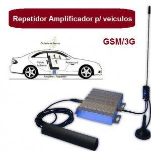 repetidor automotivo amplificador celular GSM 3G 1800mhz com antenas