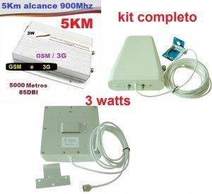 repetidor celular grande porte 3g gsm 900mhz 3w com antena externa e interna