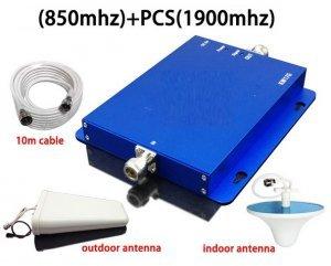 repetidor celular gsm 3g dual band 850 1900mhz antena externa interna e cabos