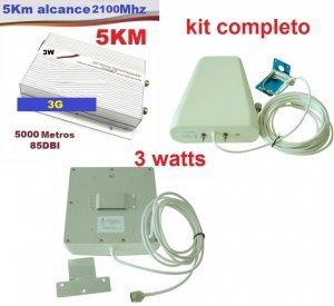 repetidor celular grande porte 3G 2100mhz 3w com antena externa e interna