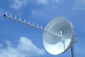 antena para repetidor de celular grande alcance com refletor cubo 24db 1800 a 2100mhz