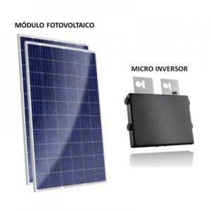kit painel solar com microinversor 500w gera até 160kwh por mês