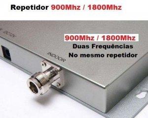 repetidor celular gsm dual band 900 1800mhz com antena repetidora