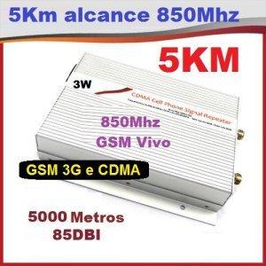 repetidor celular grande porte 3g gsm 850mhz  3watts alcance estimado 5km