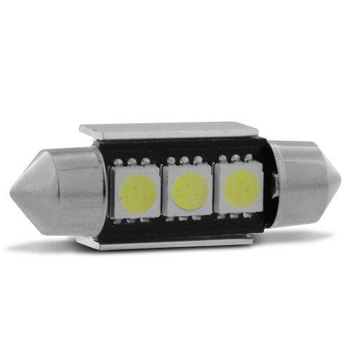 Lampada Torpedo 3 Leds Cambus Canceller Branca Teto Placa
