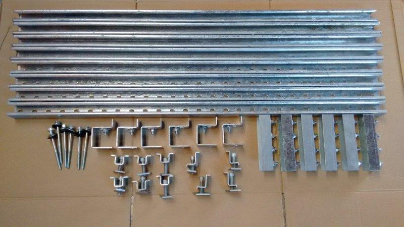 kit completo de suporte para instalação de 4 painéis solares em telha de amianto