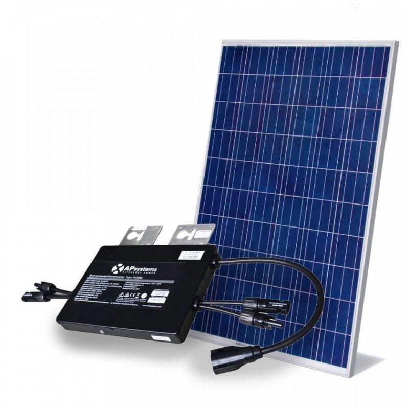 kit painel solar com microinversor 500w gera até 640kwh por mês