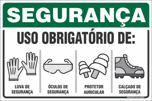 0bf2014f559c9 SEGURANÇA - LUVA - ÓCULOS - PROTETOR AURICULAR - SAPATO