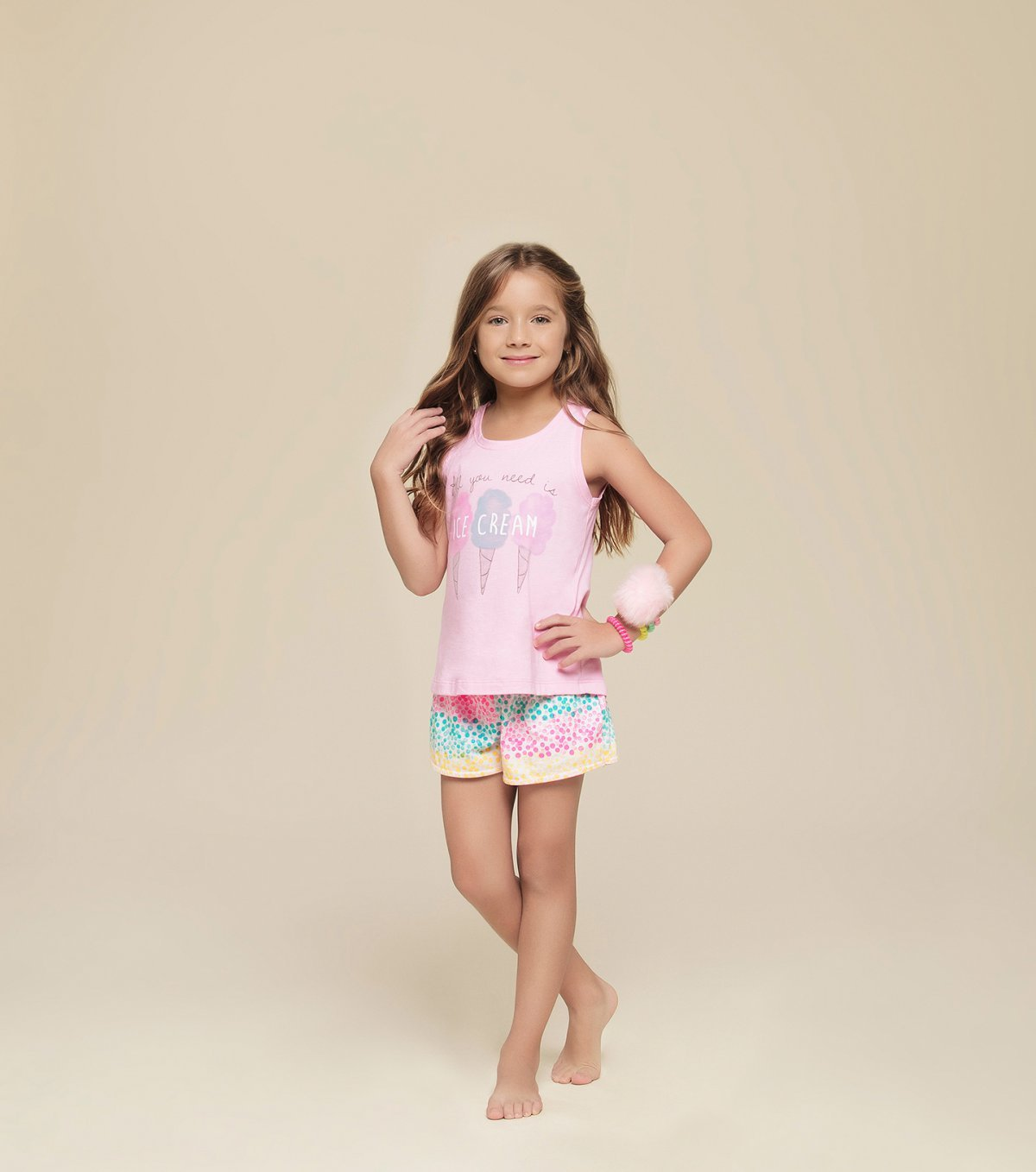 Short doll regata infantil - 67298