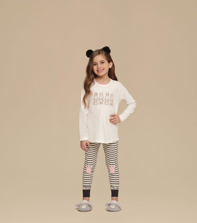 Pijama Manga Longa com Legging Infantil - 67333