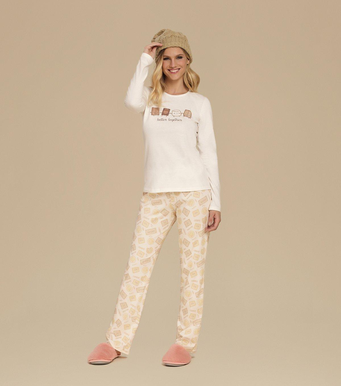 Pijama Manga Longa - 10544