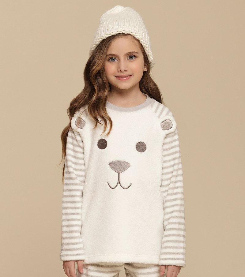 Pijama Manga Longa Infantil - 67325