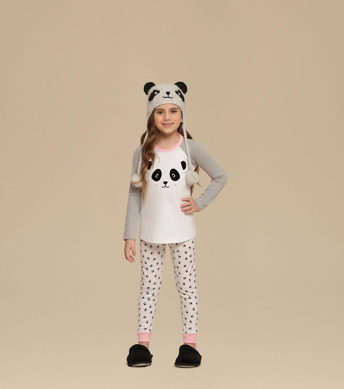 Kit Pijama Manga Longa e Manga Curta com Legging Infantil - 67355
