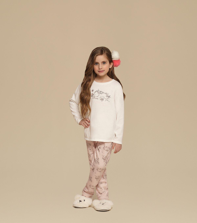 Pijama Manga Longa Infantil - 67351