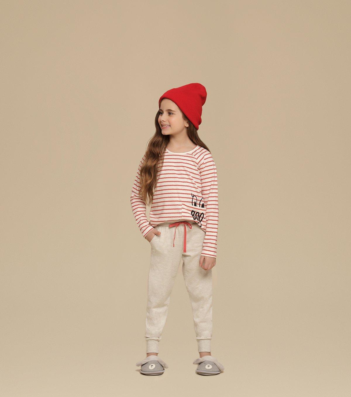 Pijama Manga Longa Infantil - 67352