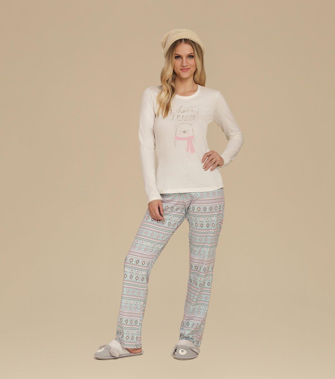 Pijama Manga Longa - 10617
