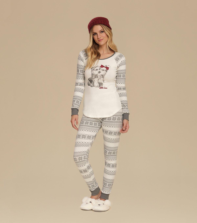 Pijama Manga Longa com Legging - 10626